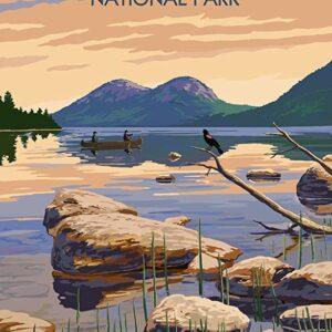 Acadia National Park Jordan Pond Vintage Poster