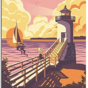 Acadia National Park Lighthouse Poster