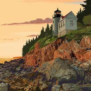 Acadia National Park Maine Bass Harbor Lighthouse Poster