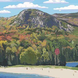 Acadia National Park Maine Sand Beach Poster