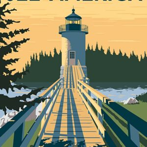 Acadia National Park See America Poster