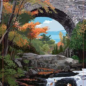 Acadia National Park Stone Bridge Travel Poster