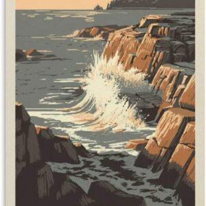 Acadia National Park Vintage Poster