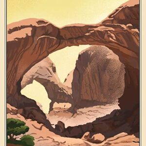 Arches National Park Utah Double Arch Poster