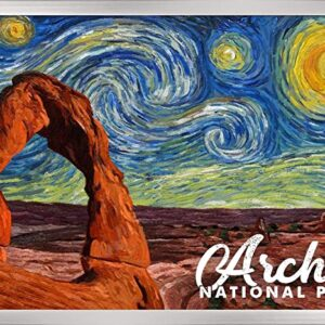 Arches Starry Night Poster