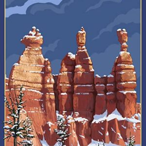 Bryce Canyon National Park Snow Poster