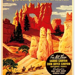 Bryce Canyon National Park Utah Union Pacific Railroad Poster