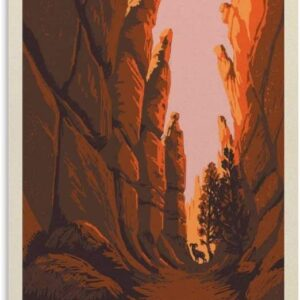 Bryce Canyon National Park Vintage Poster