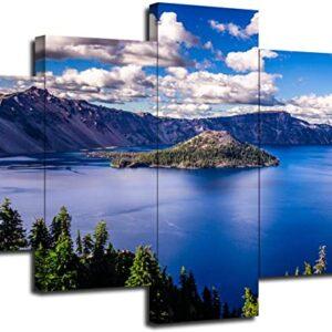 Crater Lake National Park 5 Panel Print