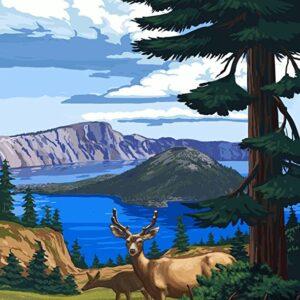 Crater Lake National Park Deer Print