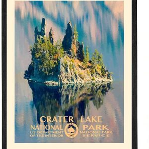 Crater Lake National Park Department Of The Interior Poster