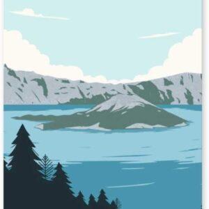 Crater Lake National Park Oregon Poster