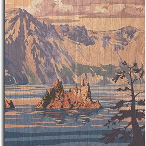 Crater Lake National Park Shorline Poster