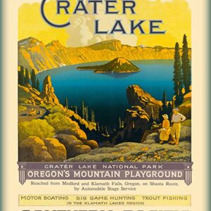 Crater Lake National Park Southern Pacific Railroad Poster