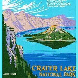 Crater Lake National Park Vintage Poster