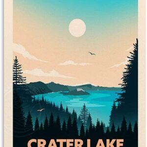 Crater Lake Retro Poster