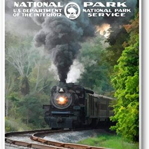 Cuyahoga Valley National Park Train Poster