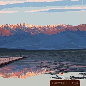 Death Valley National Park Badwater Basin Poster