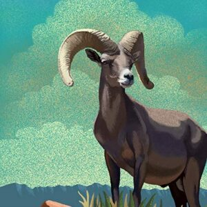 Death Valley National Park Bighorn Sheep Poster