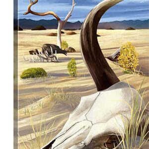 Death Valley National Park Cow Skull Poster