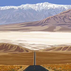 Death Valley National Park Highway Poster