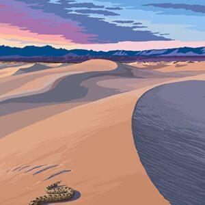 Death Valley National Park Mesquite Dunes Poster