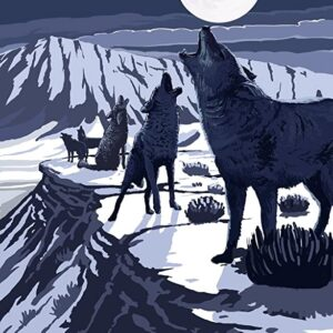 Death Valley National Park Wolves Poster