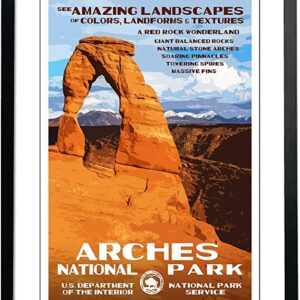 Department Of The Interior Arches National Park Poster