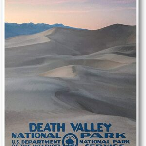 Department Of The Interior Death Valley National Park Poster