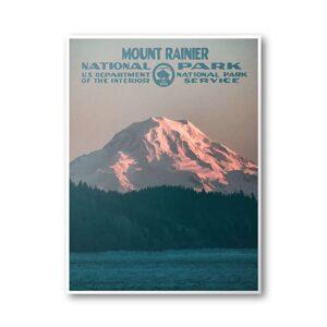 Department Of The Interior Mount Rainier Print