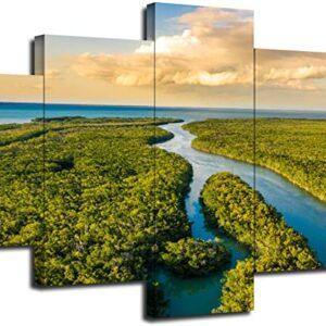 Everglades National Park 5 Panel Wall Art