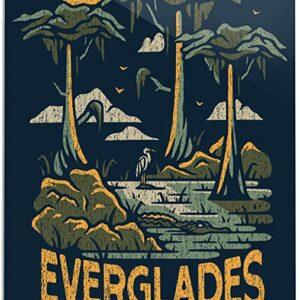 Everglades National Park Distressed Print