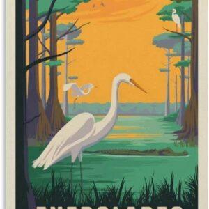 Everglades National Park Egret Poster