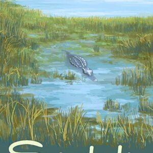 Everglades National Park Gator Poster