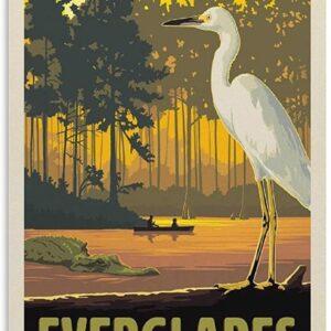 Everglades National Park Sunset Vintage Poster