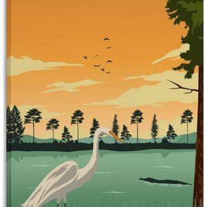 Everglades National Park Vintage Canvas Poster