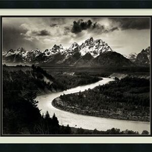 Framed Wall Art Print The Tetons And The Snake River Ansel Adams