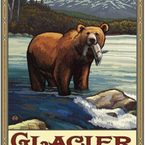 Glacier National Park Bear Art Print