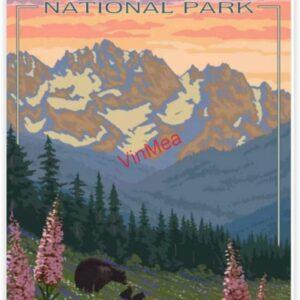 Glacier National Park Black Bear Poster