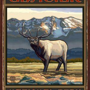 Glacier National Park Elk Art Print