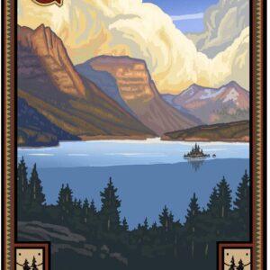 Glacier National Park Lake Poster