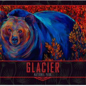 Glacier National Park Lone Grizzly Poster