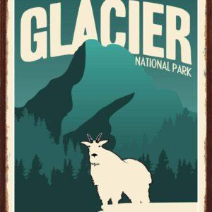 Glacier National Park Mountains Art Print