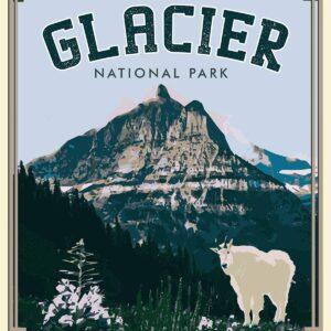Glacier National Park Mountains Wall Art