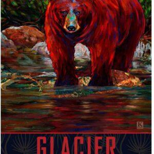 Glacier National Park River Bear Poster