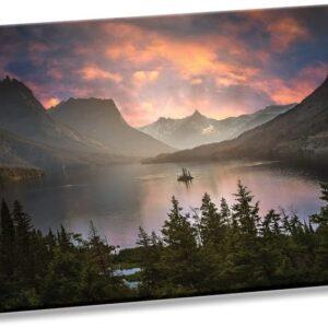 Glacier National Park Sunset Wall Art