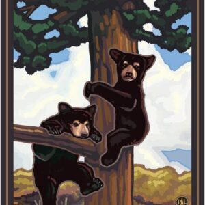 Glacier National Park Two Bears Poster