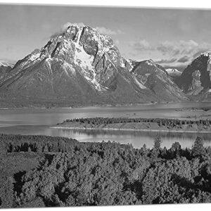 Grand Teton National Park Canvas Art Print By Ansel Adams