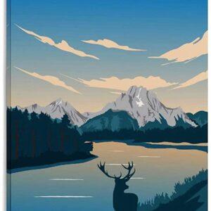 Grand Teton National Park Elk Poster