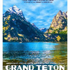 Grand Teton National Park Lake Poster